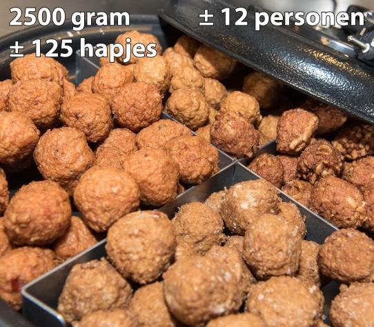 Party-Pan Klein: 4 soorten gehaktballetjes