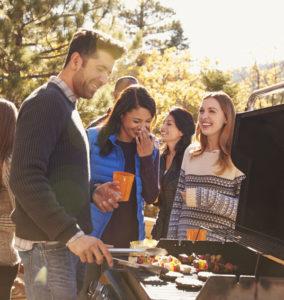 Barbecue met kenissen