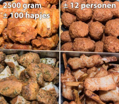 Party-Pan Klein: 4 soorten kip