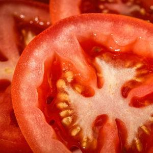 Tomaten broodje hamburger