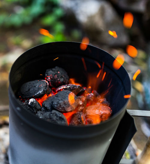 Kolenstarter houtskoolbarbecue