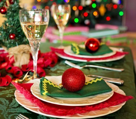 salade eten met kerst