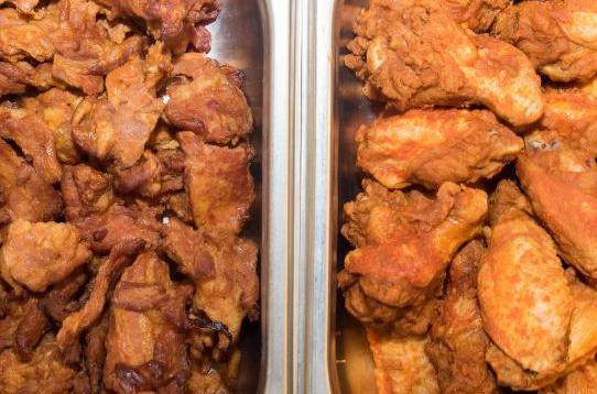 Snack-dish Zwolsche speklapjes en kipkluifjes