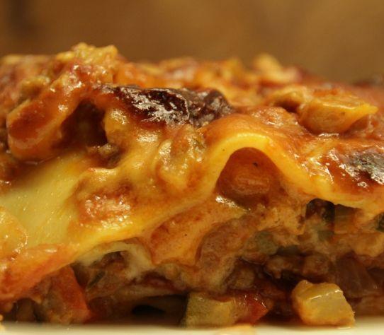lasagne van Italiaans buffet